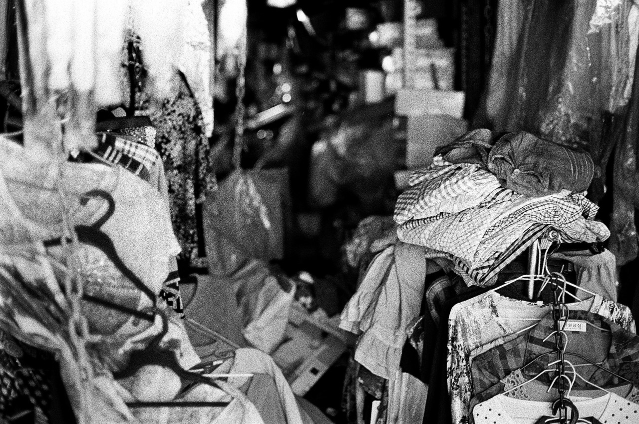 Everything must go - Eastman Double-X 5222 shot at EI 250. Black and white motion picture film in 35mm format.