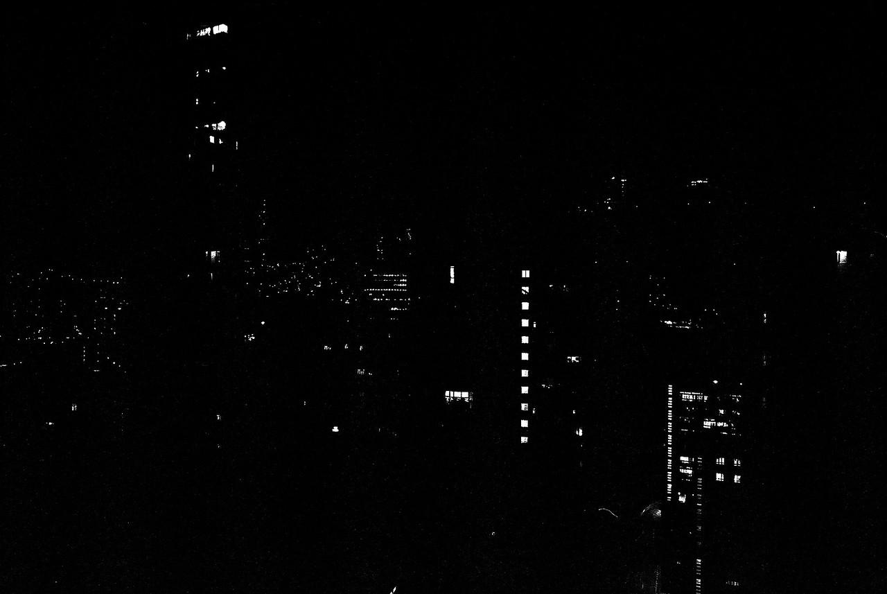 Urban constellations #01 - Kodak Tri-X 400 shot at EI 800. Black and white negative film in 35mm format. Push processed 1 stop.