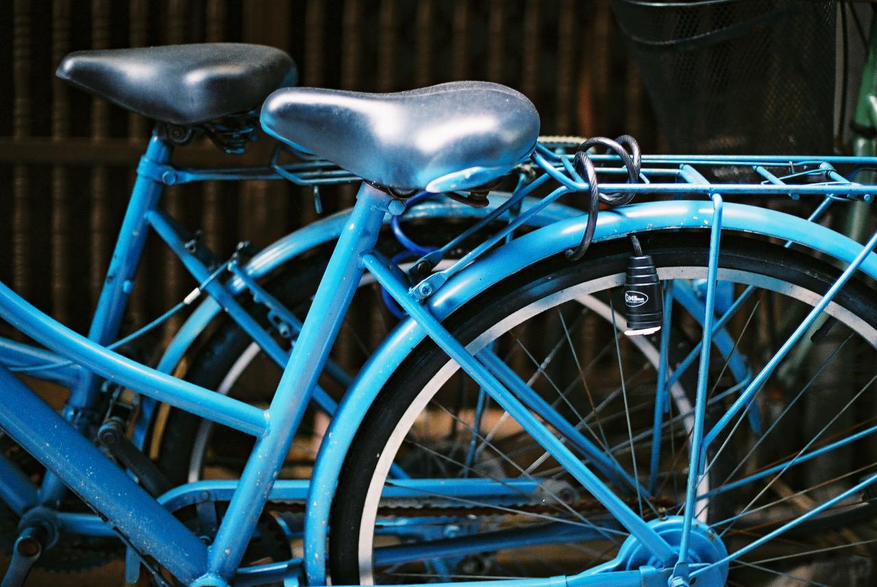 Blue - Fuji Superia Premium 400 shot at EI 1600. Color negative film in 35mm format. Push processed three stops.